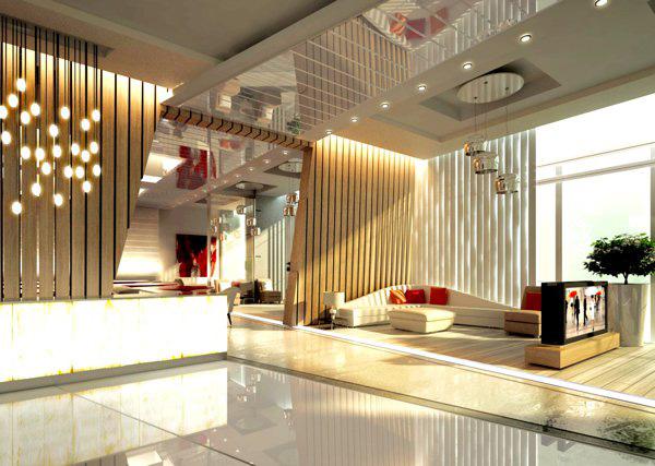 طراحی داخلی مدرن هتل
