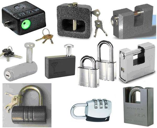 انواع قفل های ساختمانی
